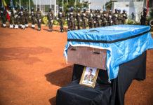 La Minusma rend hommage au Caporal Kossi Agounwadje décédé des suites d'une attaque au Mali