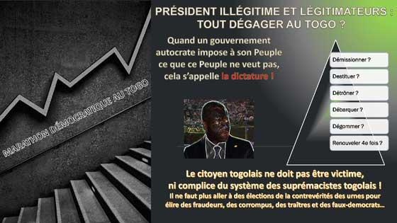 Les Légitimateurs du système RPT/UNIR au Togo : L'impossible alternance souhaitée par le Peuple sans report des élections !!!                                                                            20 novembre 2019