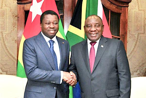 Cyril Ramaphosa entame ce jeudi une visite de 2 jours au Togo