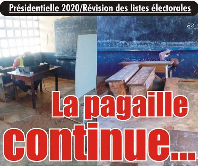 Togo, Présidentielle 2020 : Révision des listes électorales, la Pagaille du régime Faure/RPT-UNIR Continue…