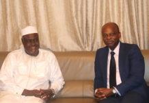 Le Président de la Commission de l'UA, Moussa Faki Mahamat en visite au Togo
