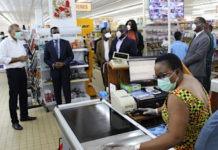 Coronavirus : le ministre du commerce au contact de différents acteurs de la distribution