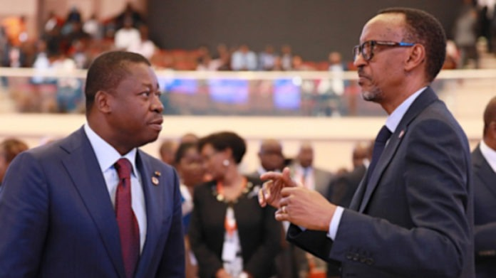 Paul Kagame à Faure Gnassingbé : « Votre réélection confirme la confiance du peuple togolais en votre leadership pour faire progresser la Nation »