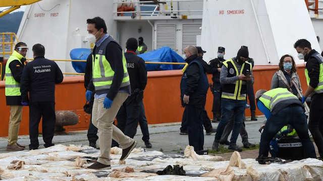 bateau battant pavillon togolais 4 tonnes de drogue galice espagne