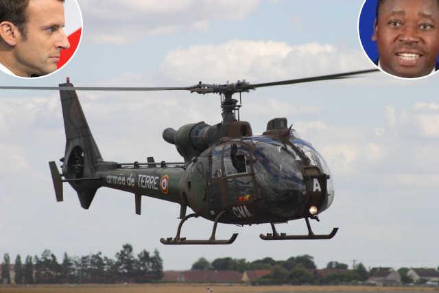 Helico Gazelle SA341 couple macron-faure