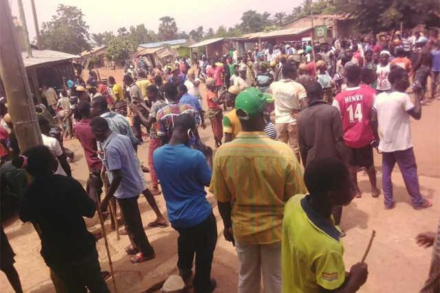 Manif dans le canton de Siou pour le retour du corps de Madjoulba Bitala