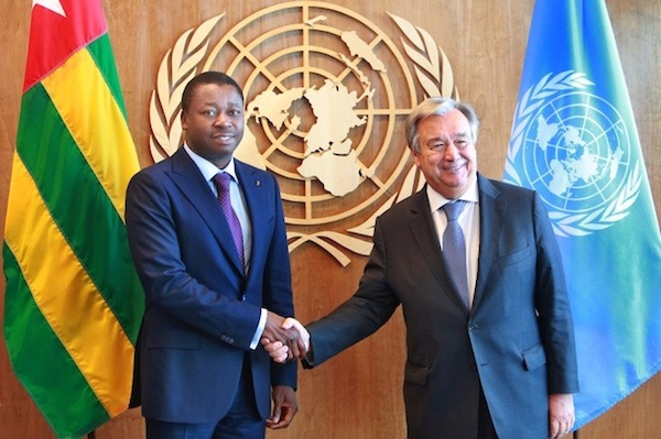 Antonio Guterres félicite Faure Gnassingbé pour son investiture et salue son engagement