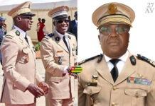 Abalo Félix Kadanga, CEMG des FATS (g;, le colonel Yotroféï Massina, directeur de la Gendarmerie (c); et Kpatcha Sogoyou, CEMAT