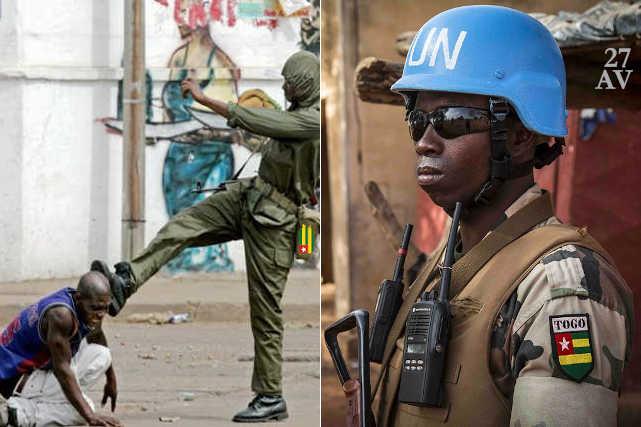 les deux visages du soldat togolais