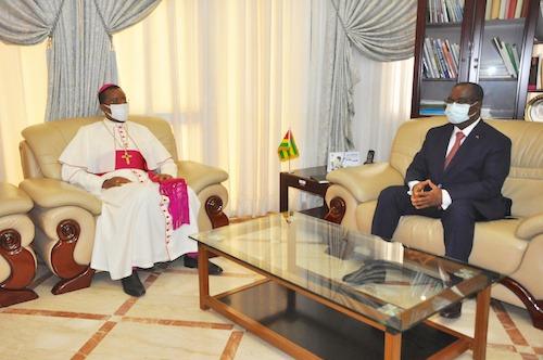 Le nonce apostolique du Vatican auprès du Togo en fin de mission