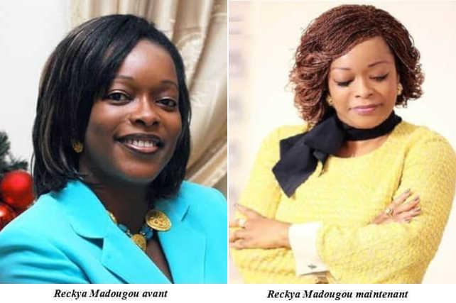 Reckya Madougou avant et apres blanchiment de peau