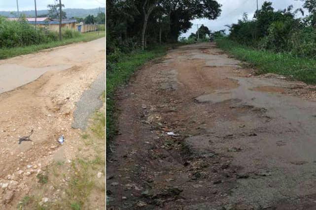 État de la route de Danyi dans le Kloto, Togo