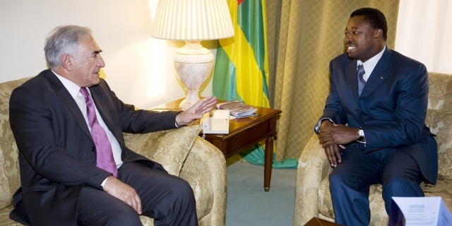 Faure Gnassingbe et DSK