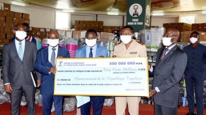 L'Uemoa appuie le Togo à plus d'un milliard FCFA, contre le Covid-19