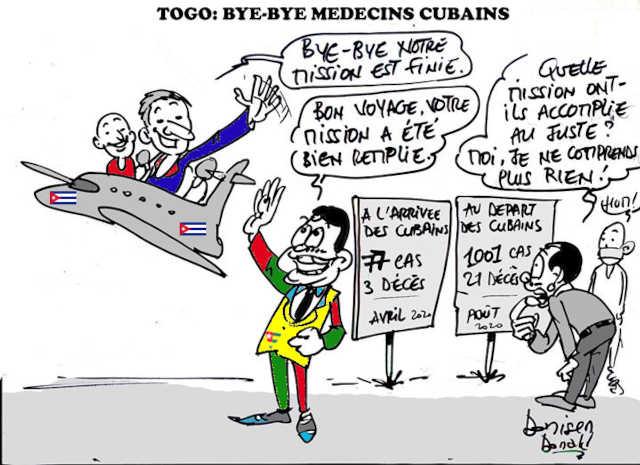 medecins cubains quittent le togo