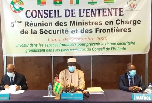 Les ministres de la sécurité du Conseil de l'Entente réunis à Lomé