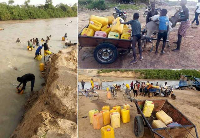 eau boueuse a Kpayendiga kpendjal savanes togo