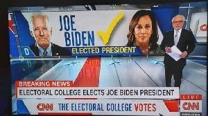 CNN annonce la confirmation par le corps électoral de la victoire de Joe Biden