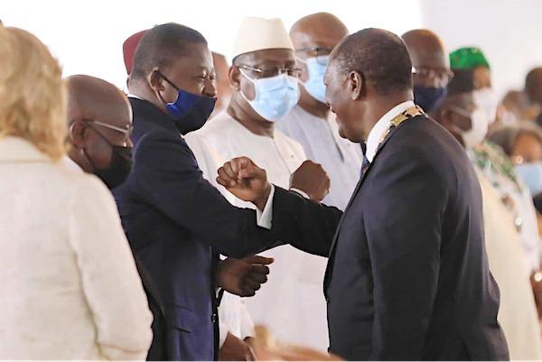 Le Chef de l'Etat a assisté à l'investiture d'Alassane Ouattara