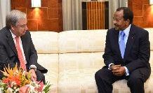 Antonio Guterres, SG de l'ONU avec le président Paul Biya