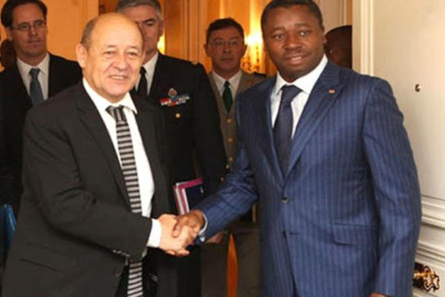 Jean-Yves Le Drian et Faure Gnassingbé