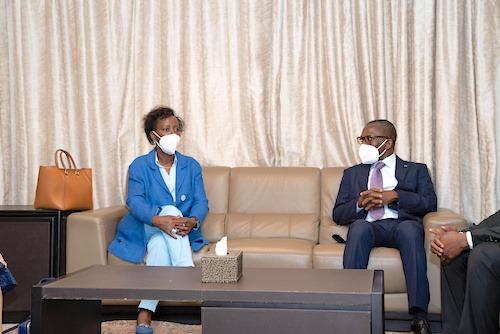 La Secrétaire Générale de l'OIF, Louise Mushikiwabo en visite de travail au Togo