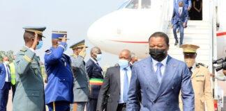 Le Chef de l'Etat au Congo pour l'investiture de Denis Sassou N'guesso