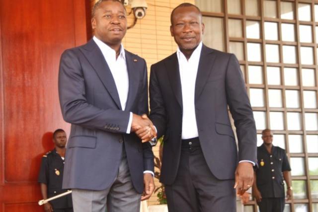 Faure Gnassingbe et Patrice Talon