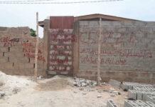 Un portail scellé à Gbamakopé