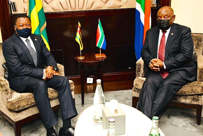 Échanges bilatéraux à Paris entre le Chef de l'Etat et Cyril Ramaphosa