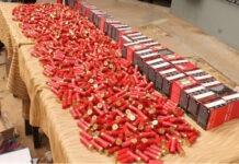 Criminalité : saisie de 1300 cartouches de chasse