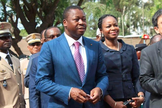 Faure Gnassingbé et Cina Lawson