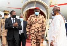 Faure Gnassingbé au Tchad aux obsèques d'Idriss Déby Itno 23 avril 2021