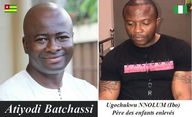 Kidnappeurs d'enfants : Atiyodi Batchassi et Ugochukwu NNolum