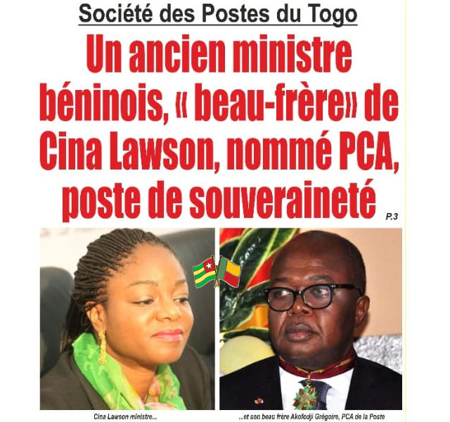 Béninois Grégoire Akofodji et togolaise cina lawson