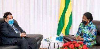 L'ambassadeur du Brésil en fin de mission